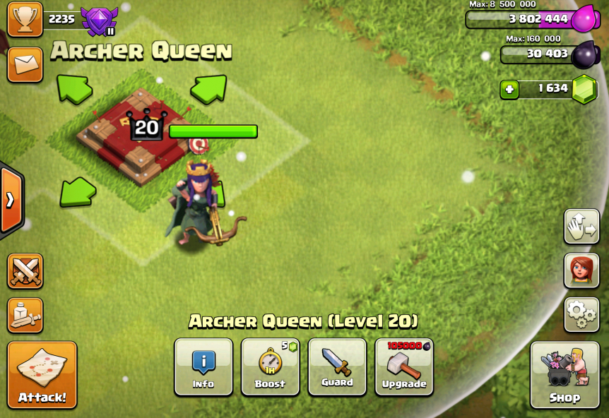 Clash of Clans Archer Queen
