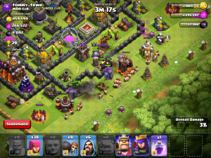 Clash of Clans Barbarian Attack