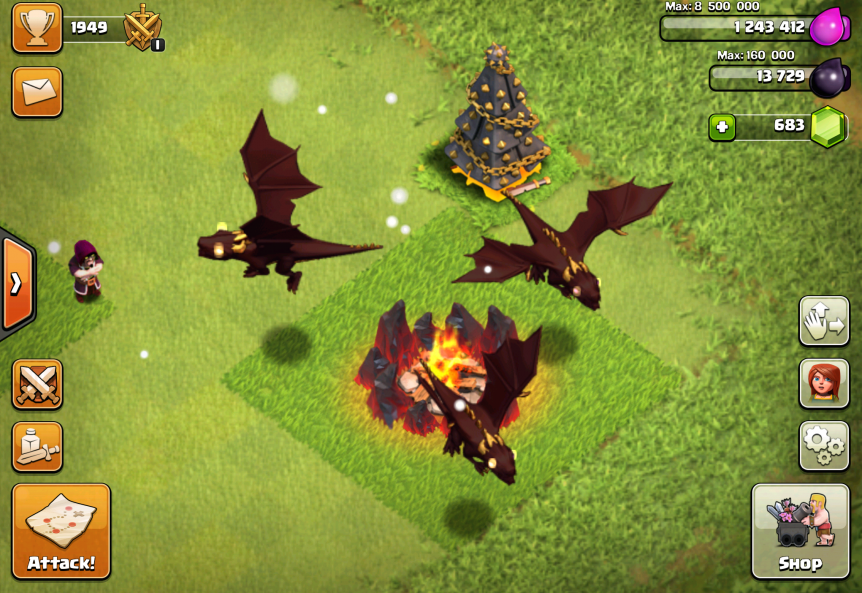 Clash Of Clans Dragons Attack Strategies Stats More