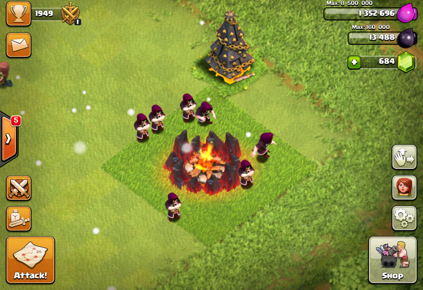 Clash of Clans Wizard