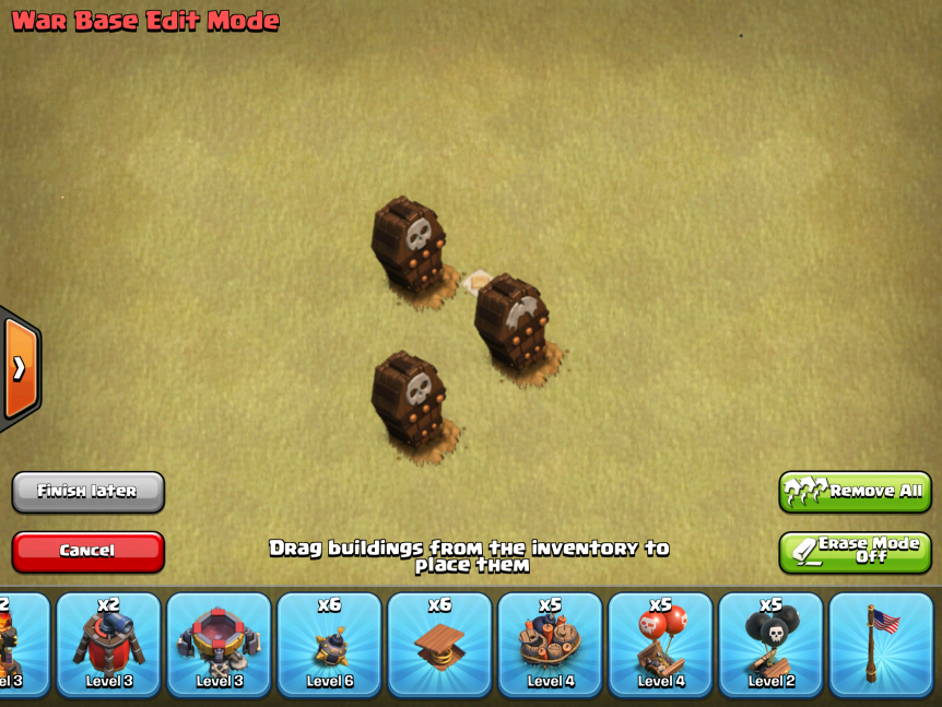 Clash of Clans Skeleton Traps