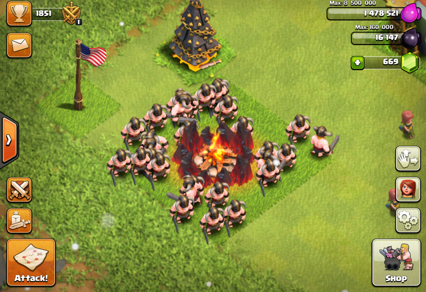 clash of clans barbarian tips stats levels clash of