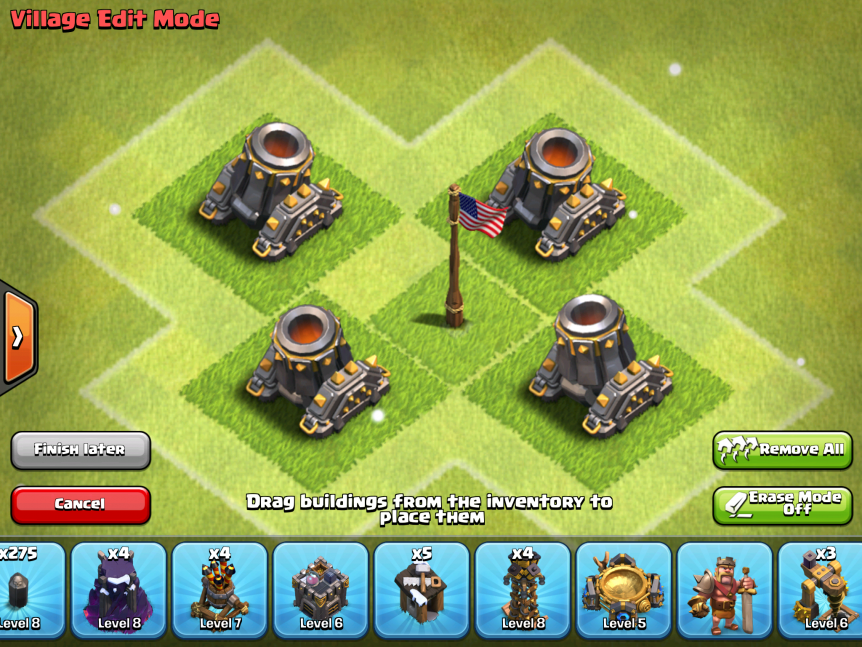 X Bow Clash Of Clans Clash of Clans Mortars...